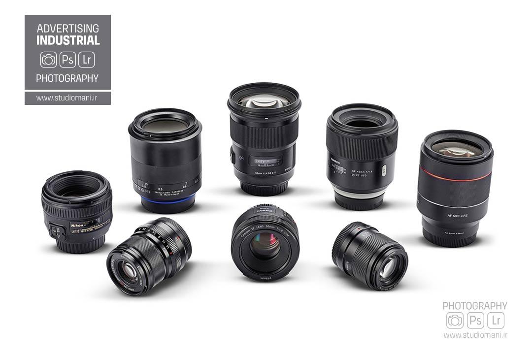 انواع لنزها در عکاسی صنعتی