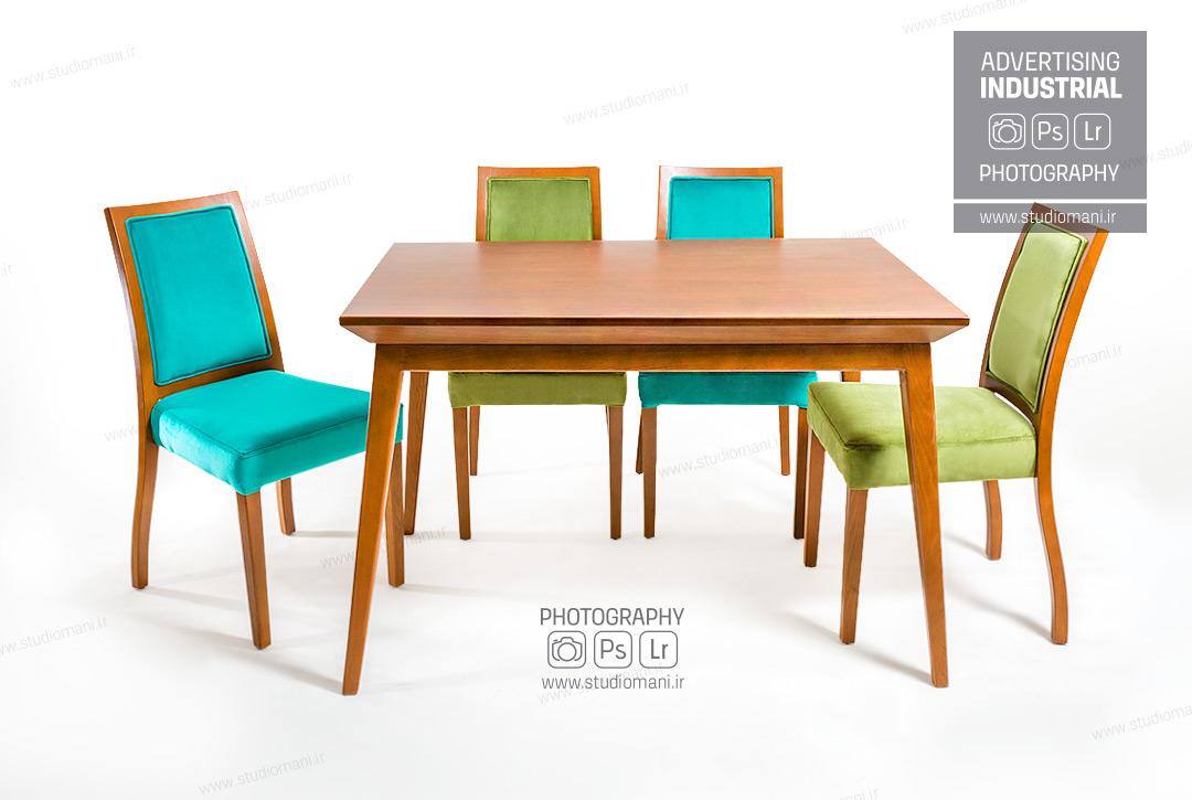 عکاسی از میز و صندلی
