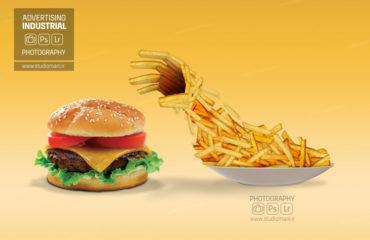 عکاسی خلاقانه همبرگر مام