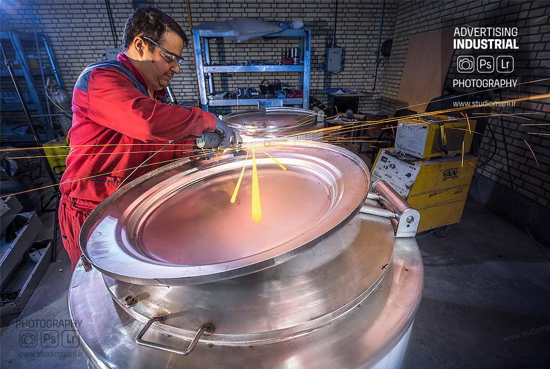 عکاسی صنعتی از خط تولید کارخانه