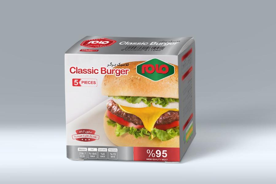 طراحی بسته بندی همبرگر