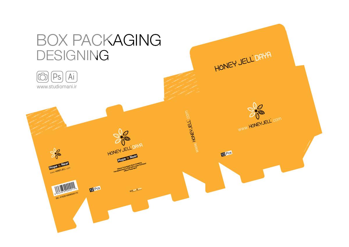 طراحی جعبه هانی ژل