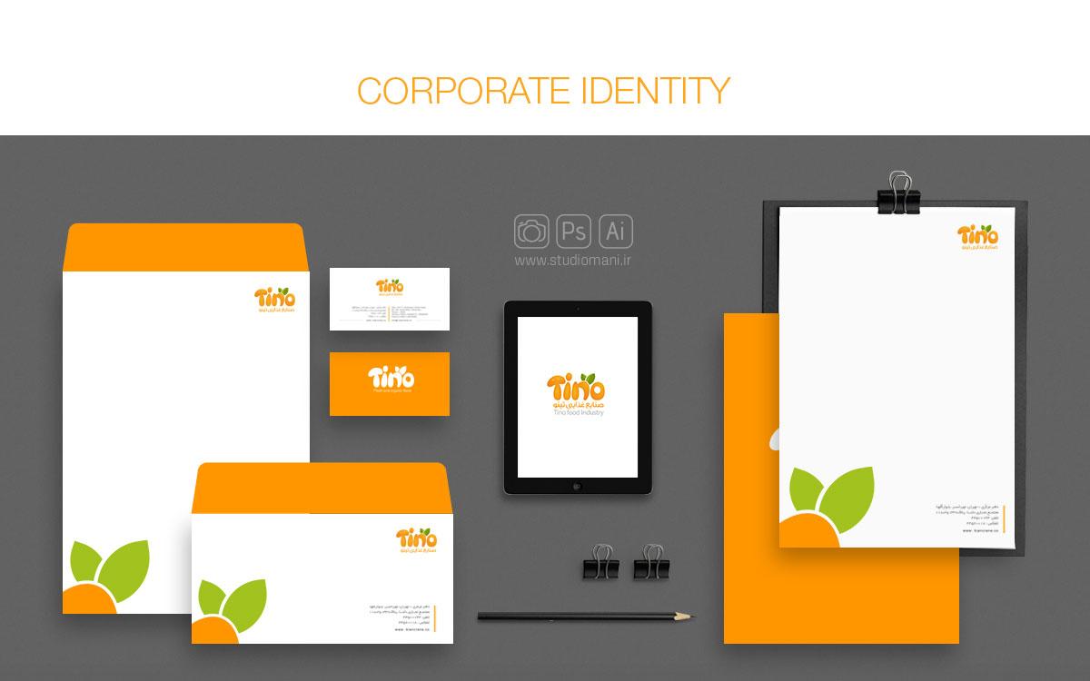 طراحی هویت سازمانی تینو