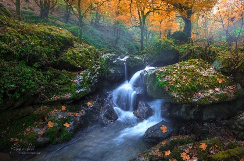 عکاسی لانگ اکسپوژ مناظر پاییز