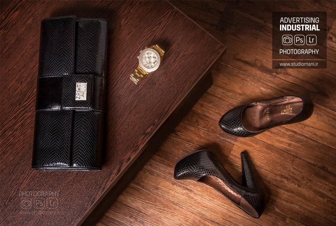عکس تبلیغاتی کیف و کفش