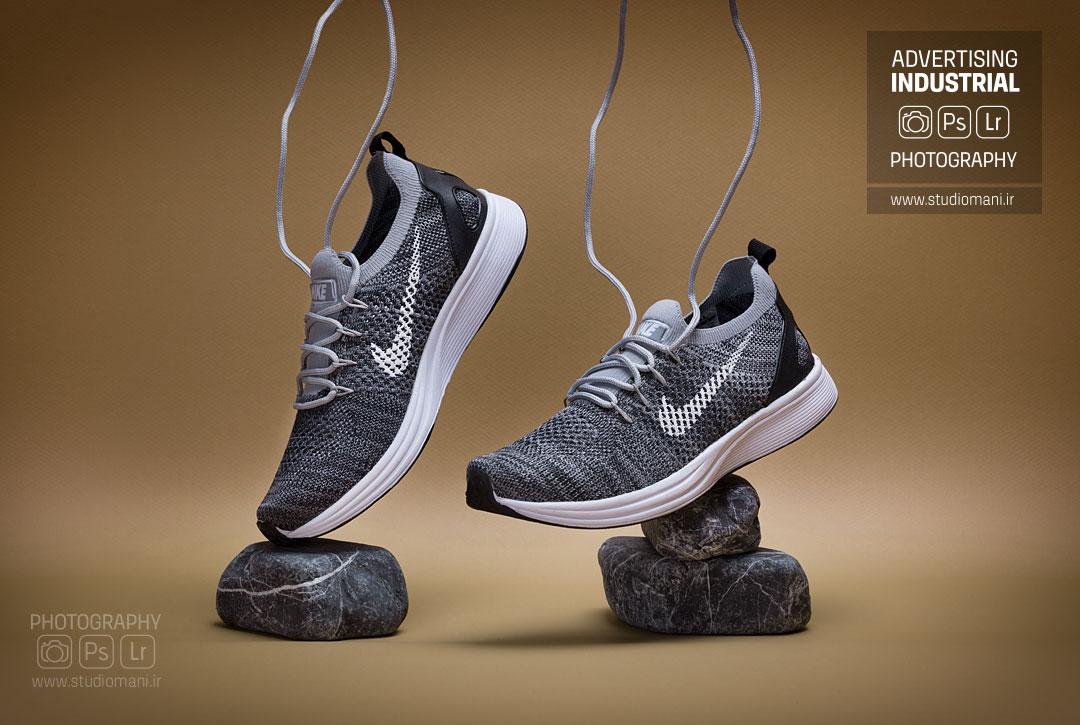عکاسی صنعتی کفش ورزشی