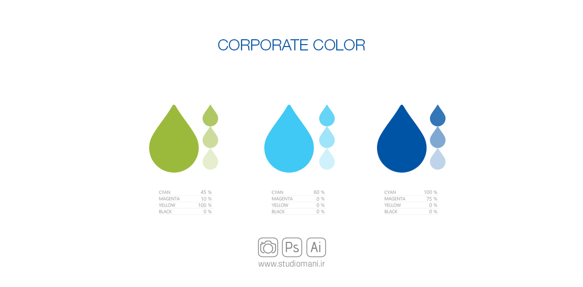 طراحی رنگ برند