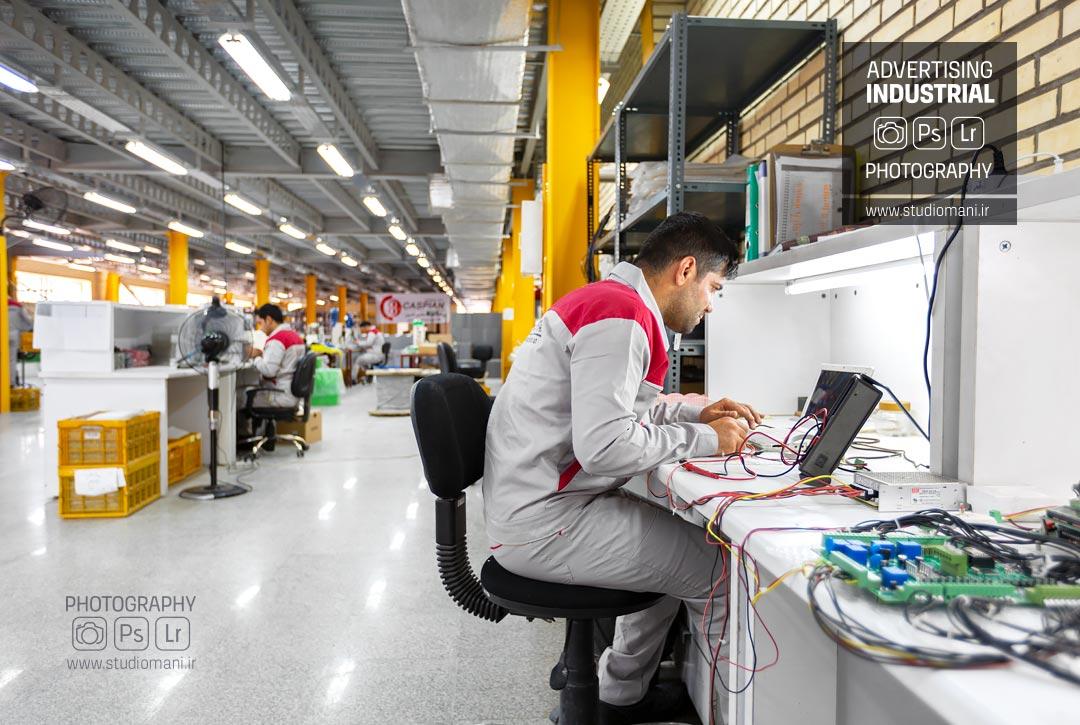 عکاسی صنعتی کارخانه شرکت کاسپین
