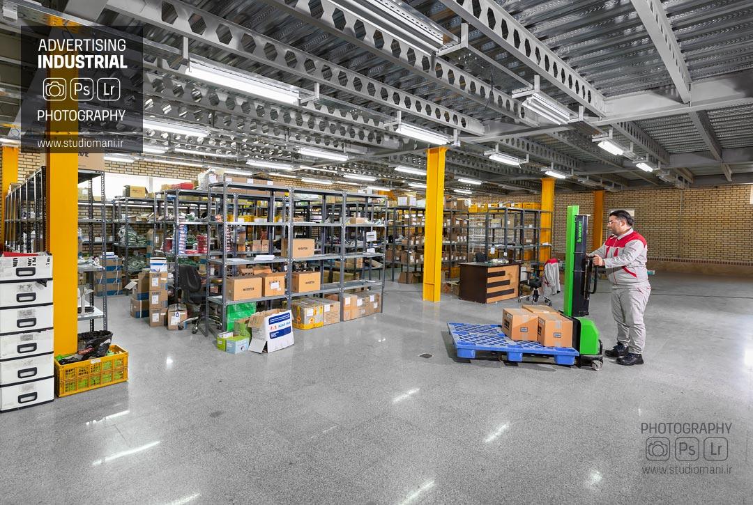 عکاسی صنعتی خط تولید شرکت کاسپین