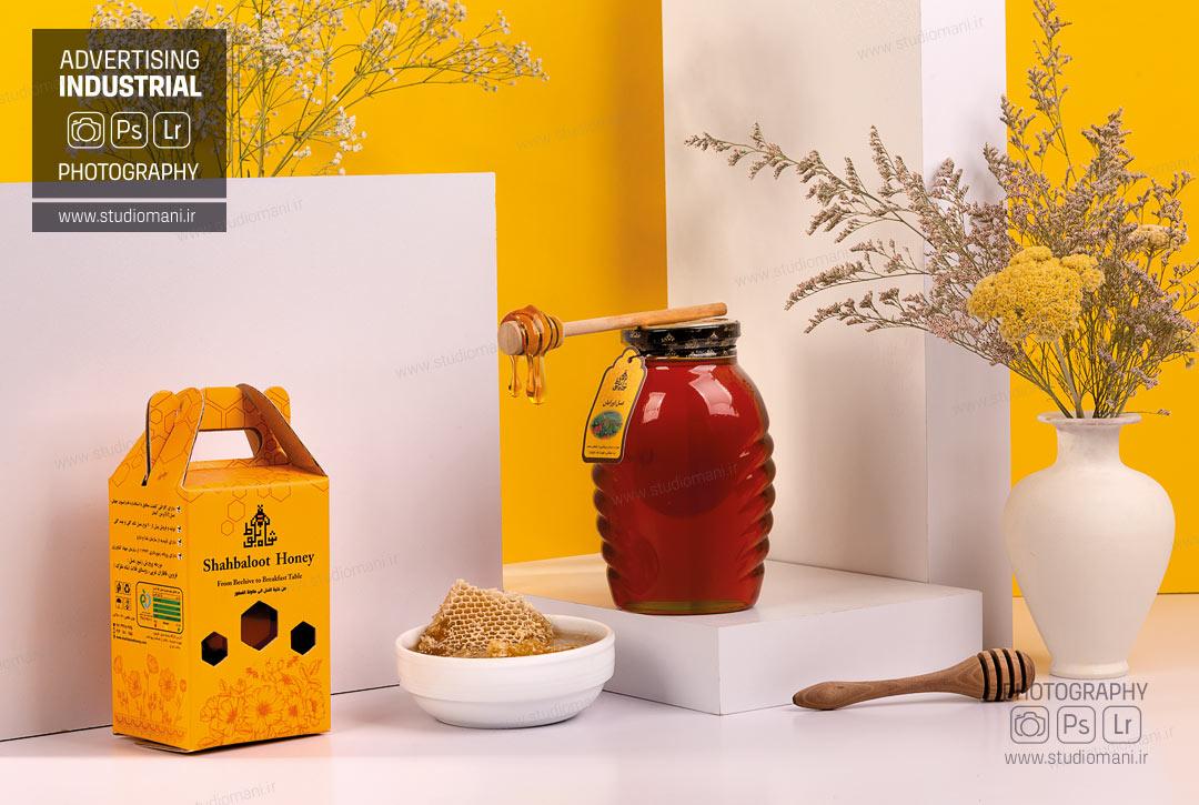 عکاسی دکوری محصولات عسل