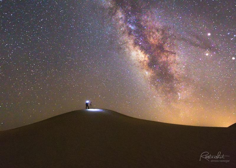عکاسی آسمان شب و کهکشان