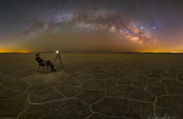 عکاسی آسمان شب و کمان کهکشان