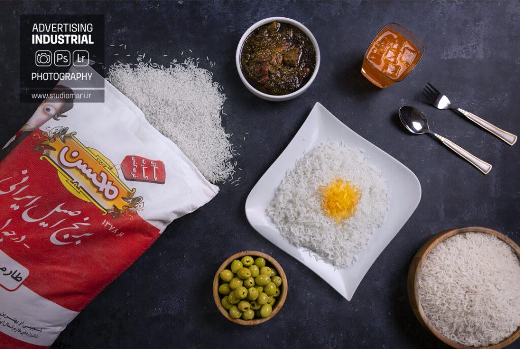 عکاسی تبلیغاتی برنج محسن