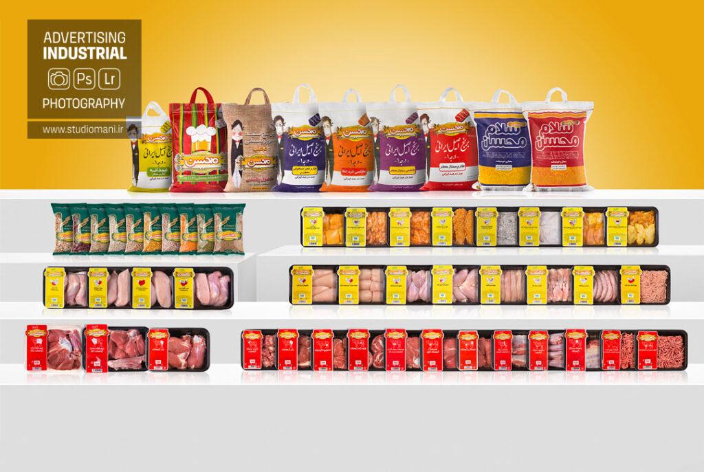 عکاسی صنعتی محصولات غذایی محسن